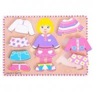 Bigjigs Toys oblékací puzzle holčička - tloušťka puzzle 2cm