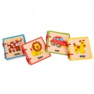 Bigjigs Toys Anglická obrázková knižka 4 motívy