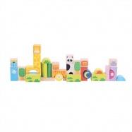 Bigjigs Toys farebné kocky Safari