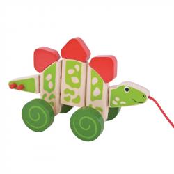 Bigjigs Toys ťahacia hračka - Dinosaurus