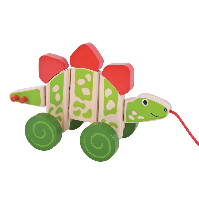 Bigjigs Toys tahací hračka - Dinosaurus