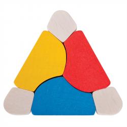 Bigjigs Toys - drevená hračka Triangel Twister
