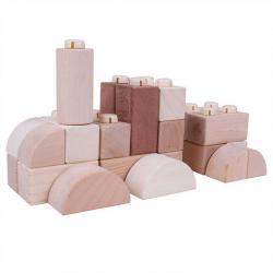 Bigjigs Toys drevené Spojkostky - Natur set 100 kusov