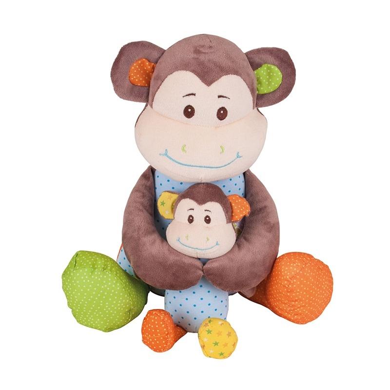 Bigjigs Toys textilní postavička - Opička Cheeky velká
