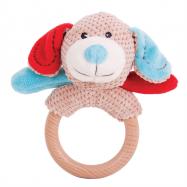 Bigjigs Toys - Chrastítko kroužek pejsek Bruno