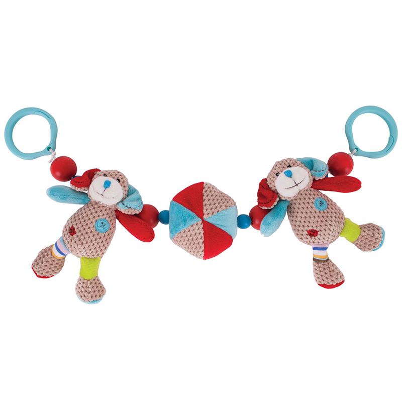 Bigjigs Toys - Hrkálka do kočíka psík Bruno