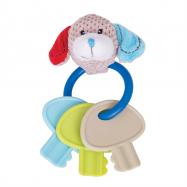 Bigjigs Toys - Chrastítko kroužek s klíči pejsek Bruno