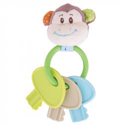 Bigjigs Toys - Hrkálka krúžok s kľúčmi opička Cheeky