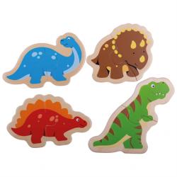 Bigjigs Toys Drevené puzzle dinosaury