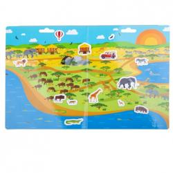 Bigjigs Toys Znovu použiteľné samolepky safari