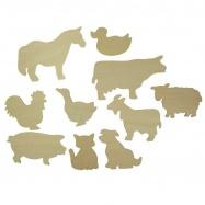 Bigjigs Toys obkreslovací vzory - Obrázky domácích zvířat