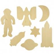 Bigjigs Toys dřevěné obkreslovací vzory - Obrázky vesmíru
