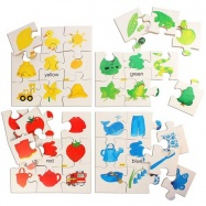 Bigjigs Toys Drewniane puzzle - kolory