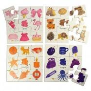 Bigjigs Toys Drewniane puzzle - kolory 2