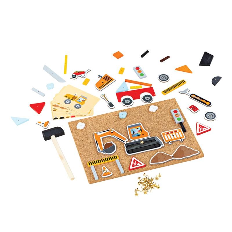 Bigjigs Toys Kreatívne zatĺkacia hra doprava