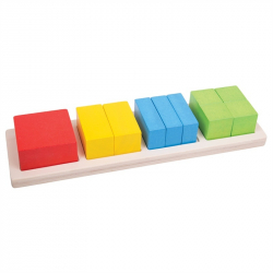 Bigjigs Toys Pomoce dydaktyczne - Kwadraty i ułamki