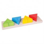 Bigjigs Toys Pomoce dydaktyczne - Trójkąty i ułamki
