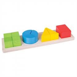 Bigjigs Toys Pomoce dydaktyczne - Figury geometryczne i ułamki