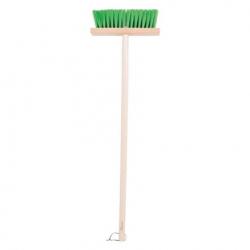 Bigjigs Toys - Zahradní metlička s dlouhou násadou  zelená