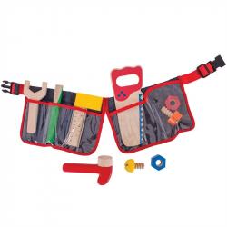 Pas Stolarski z Narzędziami do zabawy dla dzieci, drewniany