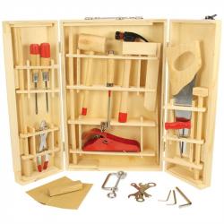 Bigjigs Toys drevené hračky - Kufrík s náradím Junior
