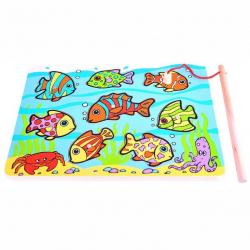 Bigjigs Toys drevená hra - Chytanie rybičiek na doske