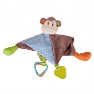 Bigjigs Toys textilný muchláček - Opička Cheeky