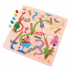 Bigjigs Toys dřevěná hra - Žebříky a hadi