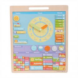 bigjigs Toys Magnetyczny kalendarz z zegarem