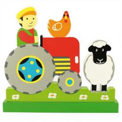 Bigjigs Toys - Magnetické vertikální puzzle Traktor