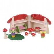 Dřevěná hračka - Hrací set Domeček hříbek