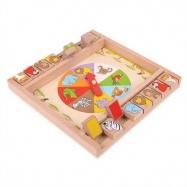 Bigjigs Toys drevená hra - Ruleta so zvieratkami