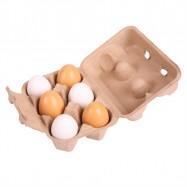 Bigjigs Toys potraviny - Dřevěné vajíčka v krabičce 6ks
