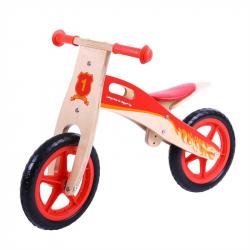 Bigjigs Toys drevené odrážadlo Červené koleso