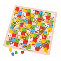 Bigjigs Toys drevená hra - Rebríky a hady 2