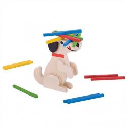 Bigjigs Toys drevená motorická hra - Koľko pes unesie?