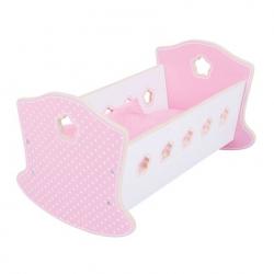 Bigjigs Toys - Drevená kolíska pre bábiky