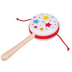 Bigjigs Toys Drevený rotačný bubienok Hviezdičky 1 ks