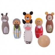 Bigjigs Toys dřevěné hry - kuželky noemova archa