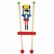 Bigjigs Detská drevená hra - Pirát na hrazde