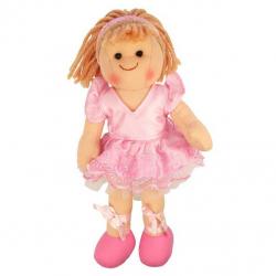 Bigjigs Toys látková panenka Lily 25 cm