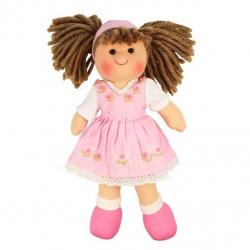 Bigjigs Toys látková panenka Rose 25 cm