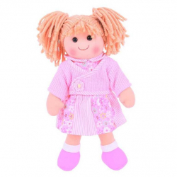 Bigjigs Toys látková bábika Abigail 38 cm