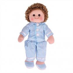 Bigjigs Toys látková bábika Arthur v modrom pyžame 35 cm