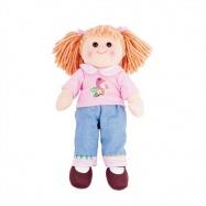 Bigjigs Toys látková panenka Molly - 38 cm