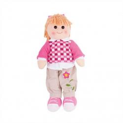 Bigjigs Toys látková panenka Melanie 38 cm