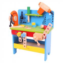 Bigjigs Toys, stół stolarski z elektronarzędziami