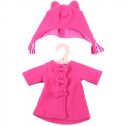 Bigjigs Toys červený kabátik s čiapočkou pre bábiku 35 cm