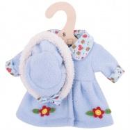 Bigjigs Toys modrý kabátek s kloboučkem pro panenku 25 cm
