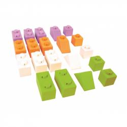 Klocki Click Jaskrawe kolory Pakiet Startowy